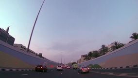 Dubai  city street view from car stock video