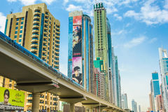 Dubai city underground Royalty Free Stock Photography