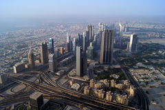 Dubai city view from the Burj Khalifa Stock Image