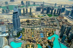 Dubai city , view from roof top Royalty Free Stock Photos