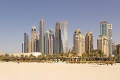 Dubai cityscape Arkivfoto