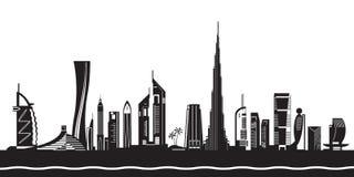 Dubai cityscape by day Royalty Free Stock Photography