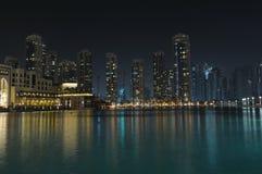 Dubai Cityscape at night Royalty Free Stock Photo