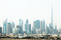 Dubai cityscape with skyscrapers Stock Photo
