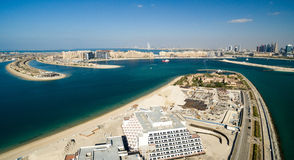 Dubai Coast. Aerial view of Jemeirah Palm Royalty Free Stock Images
