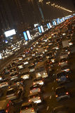Dubai,Congestion At Night Royalty Free Stock Image