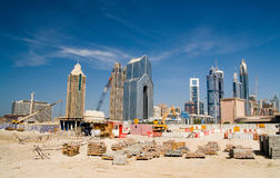 Dubai construction site. Construction site in Dubai, middle east. the largest growing city in the world Royalty Free Stock Image