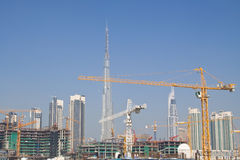 Dubai construction site Royalty Free Stock Image