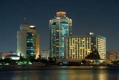 Dubai Creek. Night shot for Dubai creek Royalty Free Stock Images