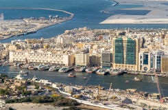 Dubai creek from the air Stock Image