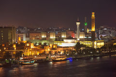 Dubai Creek and Bastakiya Stock Photos