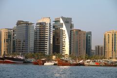 Dubai Creek Buildings Stock Images