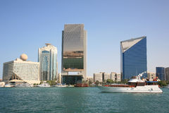 Dubai Creek Buildings Stock Photos