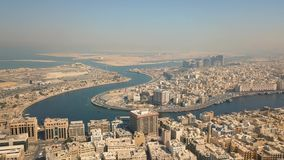 Dubai Creek, distritos do departamento Dubai e Deira video estoque
