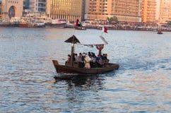 Dubai Creek Dubai, UAE, Mellanösten Arkivbild