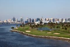 Dubai Creek golfbana Arkivfoto