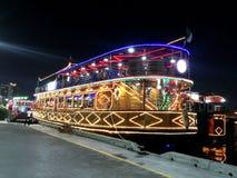 Dubai Creek Night Cruise Royalty Free Stock Photos