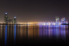 Dubai Creek at night Stock Images