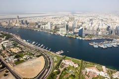 Dubai Creek område, Dubai Royaltyfri Bild