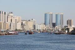 Dubai Creek panorama Stock Image
