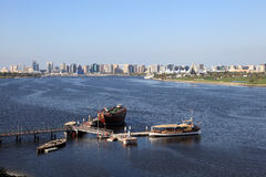 Dubai Creek panorama Stock Photography