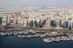 Dubai Creek portsikt Arkivbilder