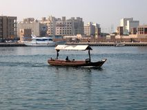 Dubai Creek. It is a saltwater creek located in Dubai Royalty Free Stock Photography
