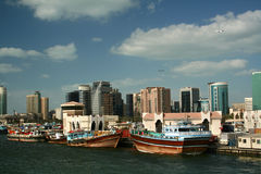 Dubai creek skyline 3 Stock Images