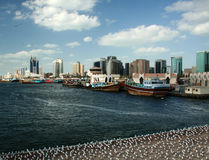 Dubai creek skyline Stock Images