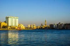 Dubai- Creekansicht lizenzfreies stockbild