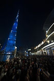 Dubai, the crowd at the Burj Khalifa Royalty Free Stock Photography
