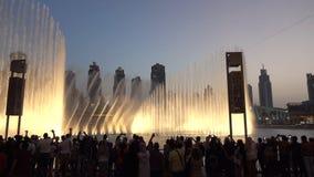 Dubai Dancing Fountain - wonderful evening show 2018.  stock image