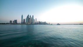 Dubai day panoramic 4k time lapse Royalty Free Stock Photography