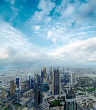 Dubai day time aerial cityscape Royalty Free Stock Images