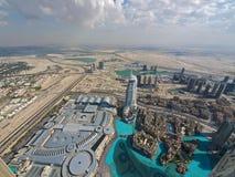 Dubai de acima fotografia de stock royalty free