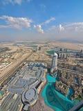 Dubai de arriba Imagen de archivo libre de regalías