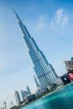 Dubai - 10 de janeiro de 2015: Burj Khalifa em janeiro Fotografia de Stock