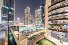 Dubai - 26 de março de 2016: Distrito do porto o 26 de março em UAE, Dubai O distrito do porto é área residencial popular em Duba Imagem de Stock Royalty Free