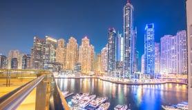 Dubai - 26 de marzo de 2016: Distrito del puerto deportivo el 26 de marzo en UAE, Dubai El distrito del puerto deportivo es área  Fotografía de archivo libre de regalías