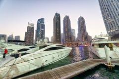 DUBAI - DECEMBER 5, 2016: Beautiful view of Dubai Marina skyline Stock Image