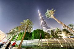 DUBAI - DECEMBER 4, 2016: Burj Khalifa skyscraper in Downtown Du Stock Photos