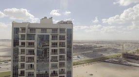 DUBAI - DECEMBER 12, 2016: Flyg- sikt av i stadens centrum Dubai Dubai Arkivbilder