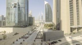 DUBAI - DECEMBER 12, 2016: Flyg- sikt av i stadens centrum Dubai Dubai Arkivfoto
