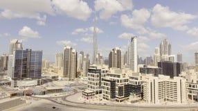 DUBAI - DECEMBER 12, 2016: Flyg- sikt av i stadens centrum Dubai Dubai Arkivfoton