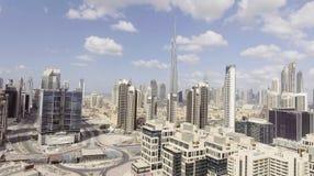 DUBAI - DECEMBER 12, 2016: Flyg- sikt av i stadens centrum Dubai Dubai Royaltyfri Foto