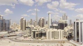 DUBAI - DECEMBER 12, 2016: Flyg- sikt av i stadens centrum Dubai Dubai Royaltyfri Bild