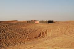 Dubai desert. Abandoned camp in the Dubai desert Stock Photo