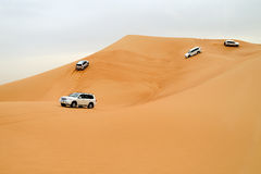 Dubai. Desert driving Royalty Free Stock Images
