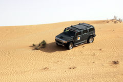 Dubai. Desert driving Royalty Free Stock Photography