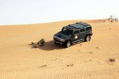 Dubai. Desert driving royalty free stock photography